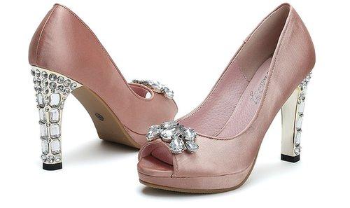 Cheap Glass encrusted fish mouth shoes_High shoes_Fashion shoes_Mili fashion Trade Co.Ltd
