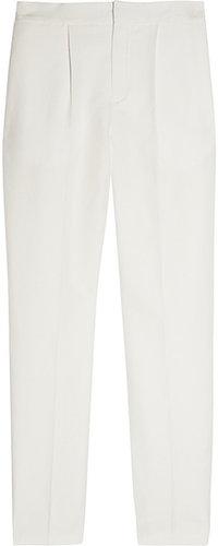 Chloé Cropped linen and cotton-blend straight-leg pants