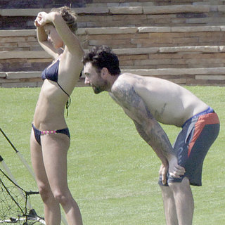 Adam Levine Shirtless With Nina Agdal in a Bikini | Pictures