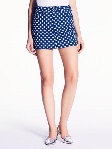 Gingham broome street mini skirt