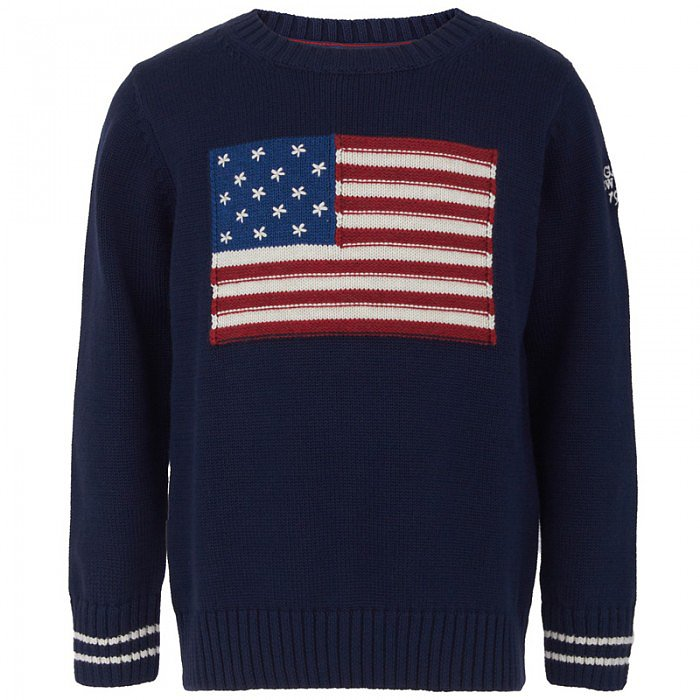 Have plans for the Fourth that require a little more pizzazz? Gant's American Flag Sweater ($55, originally $79) is a dressier option that he can wear into Fall.