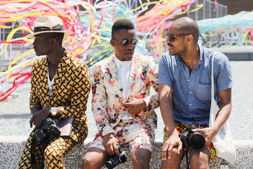A trio of gents and their showstopping looks.