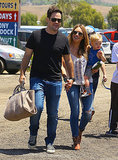 Hilary Duff and Mike Comrie went to the Underwood Family Farm with Luca Comrie in LA on Sunday.