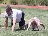 Eric Dane played in the park with his daughter Billie Dane in Beverly Hills.