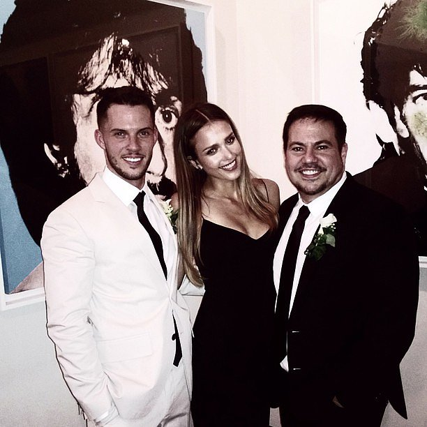Jessica Alba posed with designer Narciso Rodriguez and his groom, Thomas Tolan, during the couple's nuptials. Source: Instagram user jessicalba