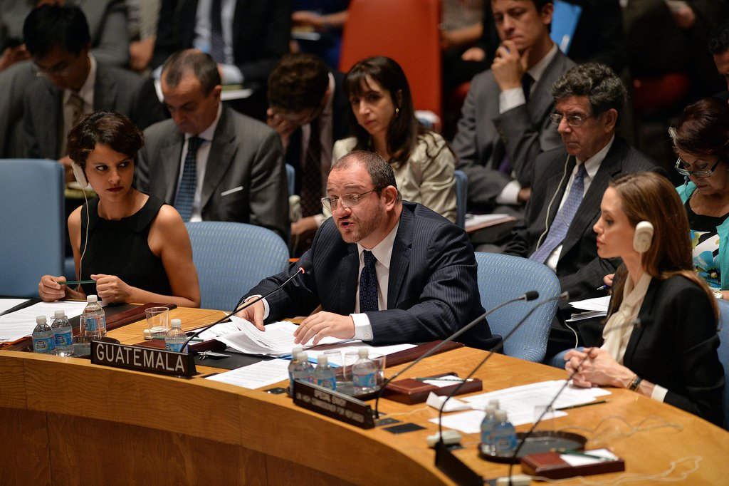Angelina Jolie spoke on sexual violence during a meeting of the UN Security Council.