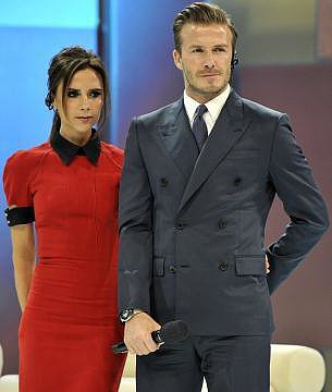 "Victoria Beckham shared a snap of her and David Beckham's appearance on China Central Television and joked, ""Does anyone else thing DB looks like Kevin Costner from the Bodyguard? Nice ear piece."" Source: Twitter user victoriabeckham"