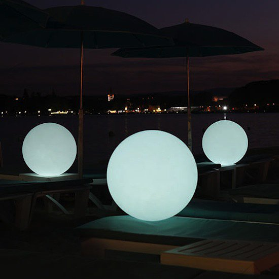 This playful Globe LED Indoor Outdoor Lamp ($299) can be used in water and in harsh weather conditions. It's completely portable and cordless.