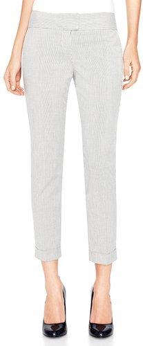 Cassidy Seersucker Stripe Cuffed Ankle Pants