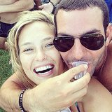 Bar Refaeli goofed around in the sun with a pal.  Source: Instagram user barrefaeli