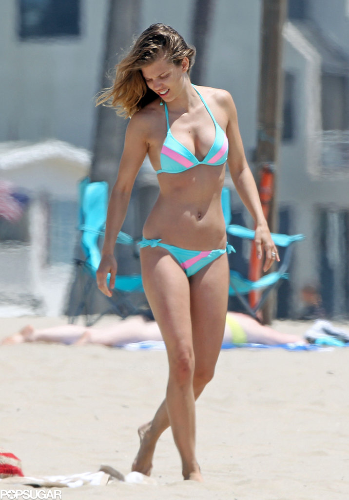 Bikini-clad AnnaLynne McCord pranced around in LA in May.