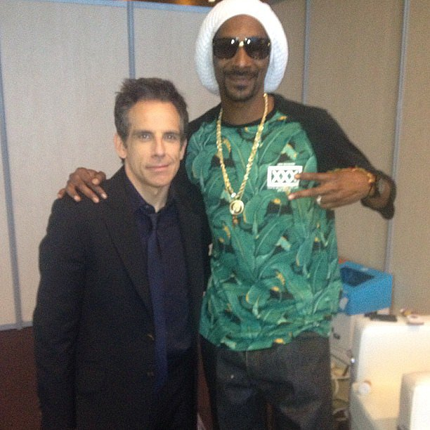 Snoop Lion met up with his fellow Turbo star Ben Stiller as they promoted the animated flick in Barcelona. Source: Instagram user snoopdogg