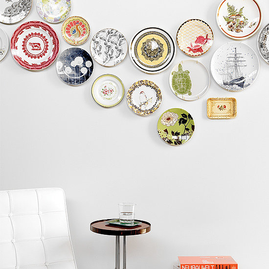 Wall Plates Home Decor : Plate wall decor diy popsugar home
