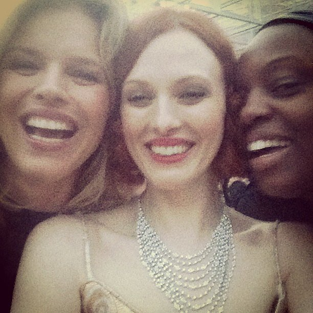 Eva Herzigova, Karen Elson, and Pat McGrath had a laugh during the Serpentine Gallery Summer Party in London. Source: Instagram user misskarenelson