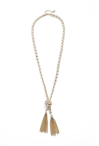 Gold-Tone Woven Knot Necklace