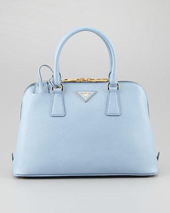 Prada Saffiano Small Promenade Crossbody Bag, Blue