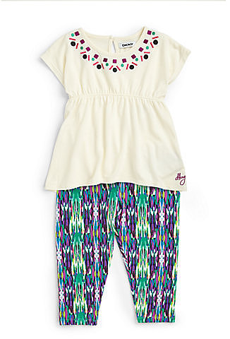 DKNY Infant's Two-Piece Calypso Tunic & Leggings Set