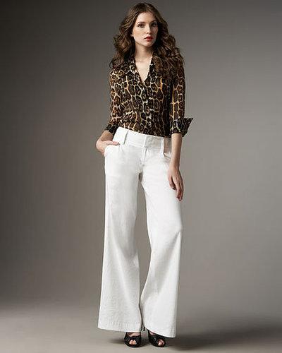 Alice + Olivia Brazil Leopard-Print Blouse & Eric Wide-Leg Pants