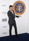 Channing Tatum hit the blue carpet for the premiere of White House Down in NYC.