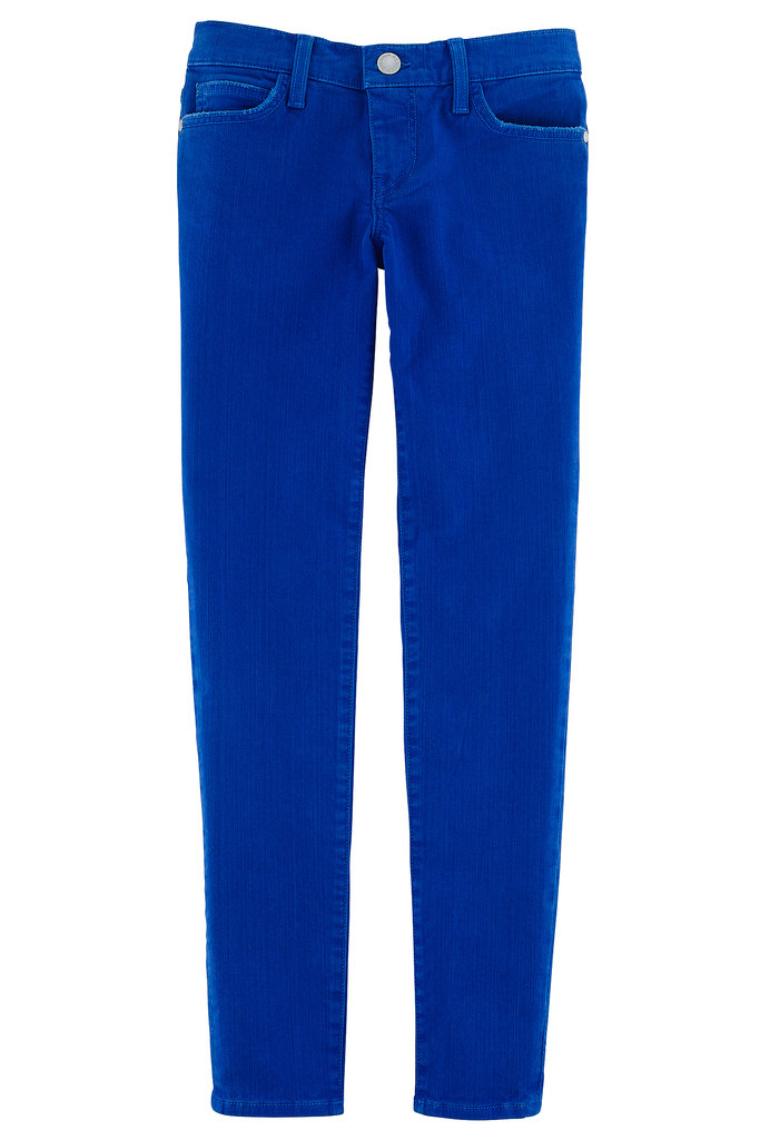 The cobalt hue of the Jane skinny jeans ($118) is a bold take on the classic blue jean. Photo courtesy of Rebecca Minkoff