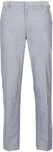 Indigo Oxford Slim Pants