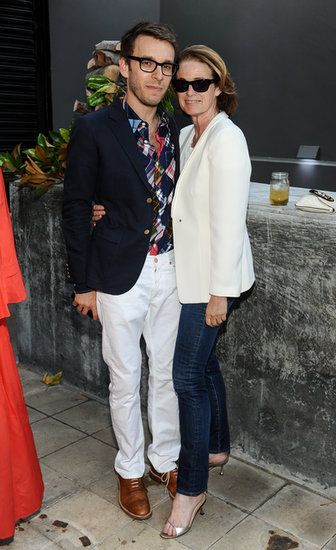 Scott Sternberg and Lisa Love at the Band of Outsiders and Bon Appetit dinner in Los Angeles.