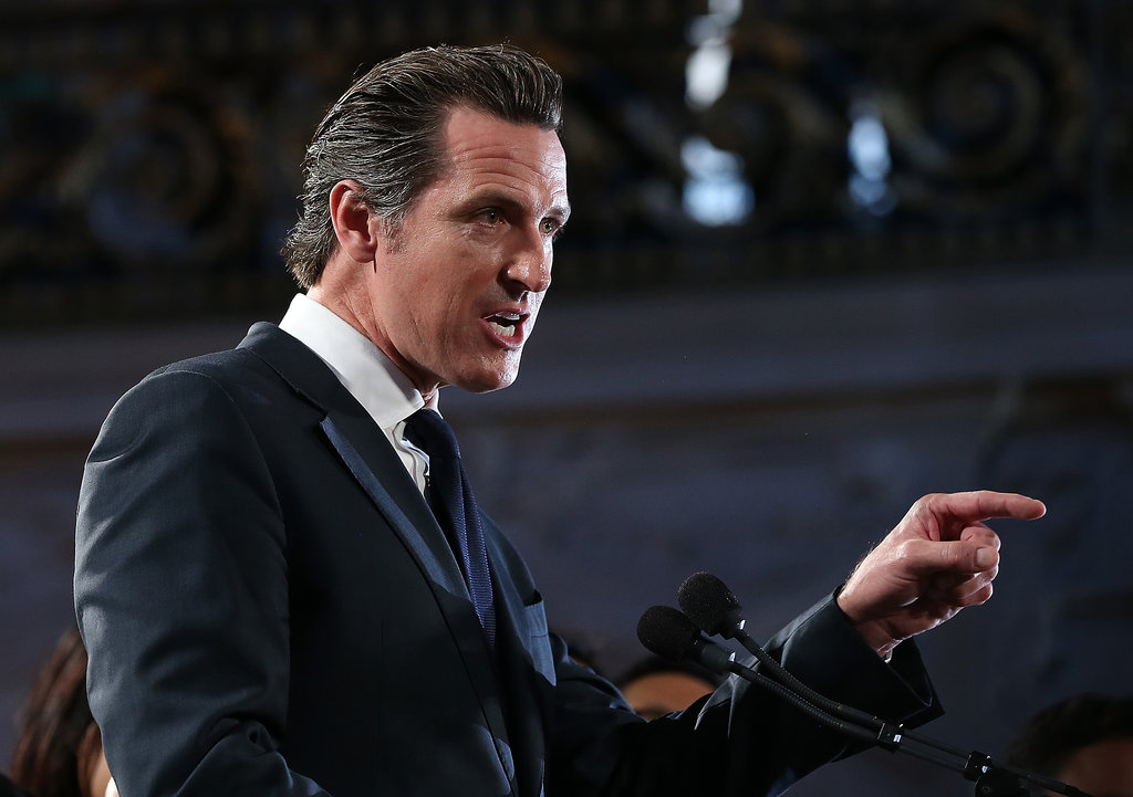 Gavin Newsom spoke at a rally in SF after the high court struck down DOMA and did not defend Prop 8 on Wednesday.