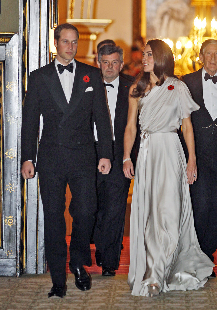 Kate and William wore red poppies on their clothes as they attended a November 2011 reception for the National Memorial Arboretum Appeal at St. James's Palace.