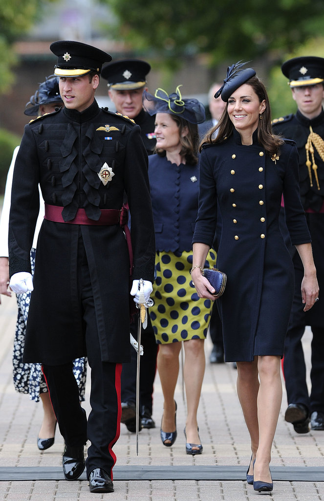 Kate Middleton got in the military mood during a June 2011 visit with Prince William to the Victoria Barracks in Windsor.