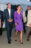 Kate donned a purple frock for a special event in Ottawa, Canada, during her royal visit in July 2011.