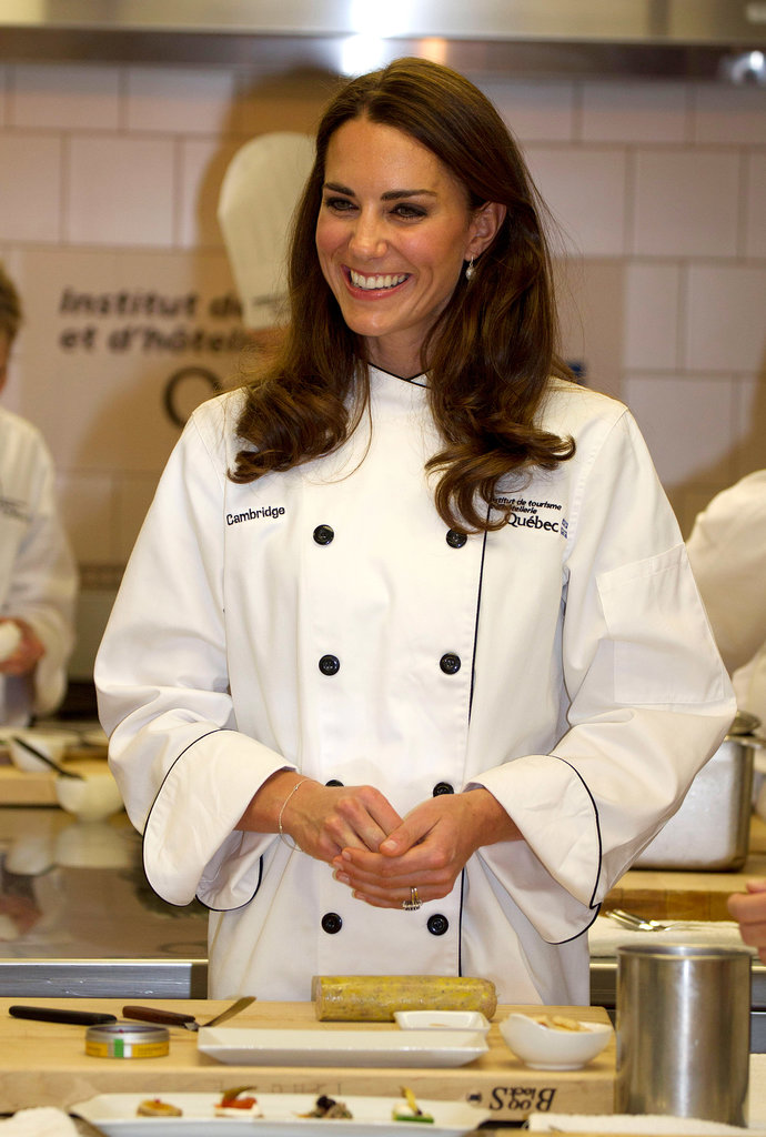 In July 2011, the duchess showed off her culinary skills during a cooking workshop at the Institut de Tourisme et d'Hotellerie in Quebec.