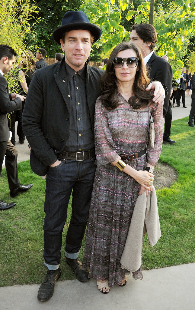 Ewan McGregor posed with Eve Mavrakis.