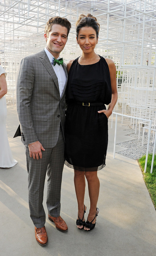 Matthew Morrison came to the party with his girlfriend, Renee Puente.