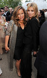 Jade Jagger and Kate Moss were snapped together as the party got underway.