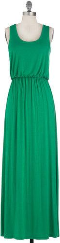 Summer Night Stroll Dress in Green