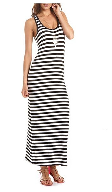 Our idea of the perfect Summer basic looks a lot like this Charlotte Russe Striped Maxi Dress ($23).