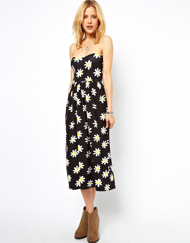 The sunny pattern on this ASOS Midi Bandeau Sundress ($48) was made for Summer days out at the park or out to brunch.