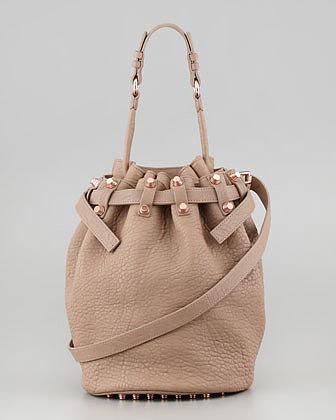 Alexander Wang Diego Bucket Bag, Beige/Rose Golden Hardware