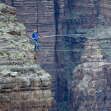 TIghtrope walker Nik Wallenda walked across a high wire over the Grand Canyon in Arizona, with the whole experience streaming live.