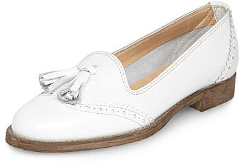 Leighton White tassle loafers