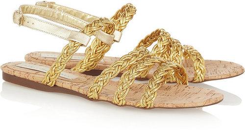 Stella McCartney Braided faux leather sandals