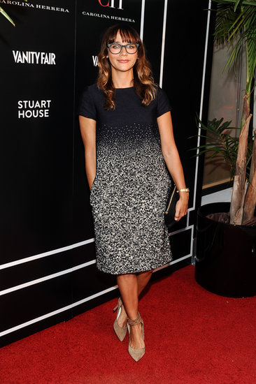 Rashida Jones attended the cocktail party in honor of her pal Carolina Herrera's store opening in LA.