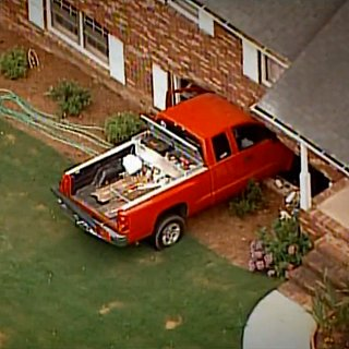 Toddler Drives Truck Into Neighbor's House