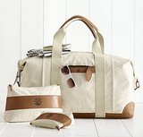This durable Canvas With Leather Weekender Bag ($199) would be fab for the hospital (and weekend getaways afterward)!