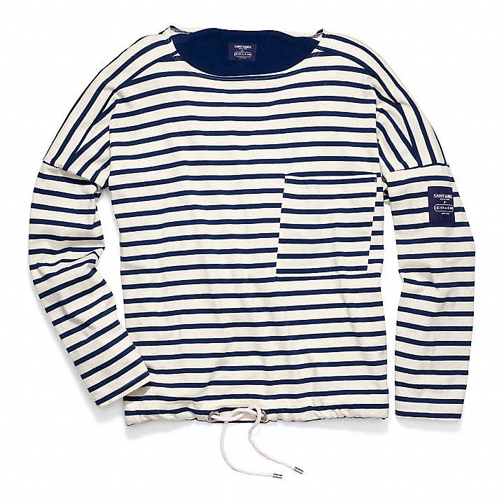 It doesn't get much more Fourth of July than a blue striped shirt. I especially love the drawstring detail on this  Coach x Saint James top ($158) — the perfect nautical accent to a look that is simultaneously patriotic and chic. — Robert Khederian