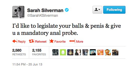 @SarahKSilverman made a graphic political statement.