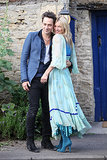 Kate Moss and Jamie Hince were a vision in blue for their wedding preparation ceremony in London in July 2011.