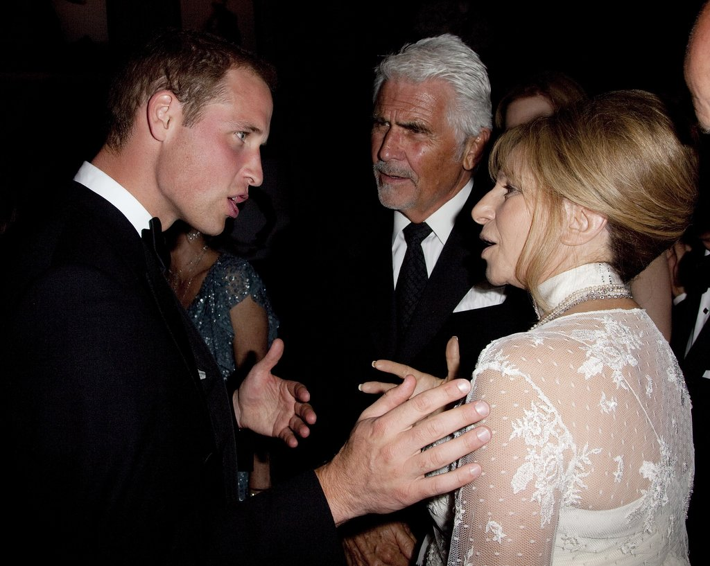 Barbra Streisand and Prince William spoke at the July 2011 BAFTA Brits to Watch Event in LA.