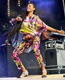 Solange Knowles performed on stage.