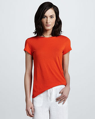 Vince Relaxed Short-Sleeve Tee